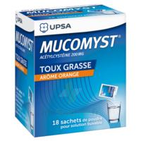 MUCOMYST 200 mg Poudre pour solution buvable en sachet B/18 à JACOU