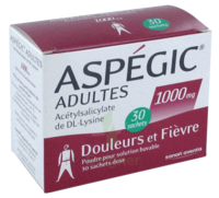 ASPEGIC ADULTES 1000 mg, poudre pour solution buvable en sachet-dose 30 à JACOU