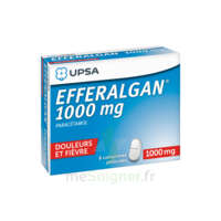 Efferalgan 1000 mg Comprimés pelliculés Plq/8 à JACOU