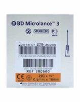 BD MICROLANCE 3, G25 5/8, 0,5 mm x 16 mm, orange  à JACOU