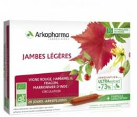 Arkofluide Bio Ultraextract Solution Buvable Jambes Légères 20 Ampoules/10ml à JACOU