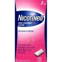 NICOTINELL FRUIT EXOTIQUE 2 mg, gomme à mâcher médicamenteuse Plq/96 à JACOU