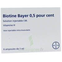 BIOTINE BAYER 0,5 POUR CENT, solution injectable I.M. à JACOU