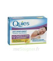 QUIES Past à sucer anti-ronflement miel citron B/12 à JACOU
