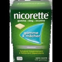NICORETTE 2 mg Gom à mâcher médic sans sucre menthe fraîche Plq/105gom à JACOU
