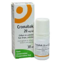 CROMABAK 20 mg/ml, collyre en solution à JACOU