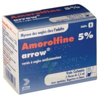 AMOROLFINE ARROW 5 % V ongles médicamenteux 1Fl/2,5ml+30spat à JACOU