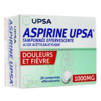 ASPIRINE UPSA TAMPONNEE EFFERVESCENTE 1000 mg, comprimé effervescent à JACOU