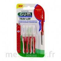 GUM TRAV - LER, 0,8 mm, manche rouge , blister 4 à JACOU