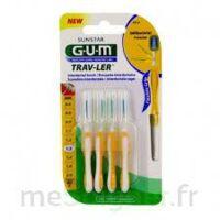 GUM TRAV - LER, 1,3 mm, manche jaune , blister 4 à JACOU