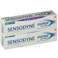 Sensodyne Rapide Pâte dentifrice dents sensibles 2*75ml à JACOU