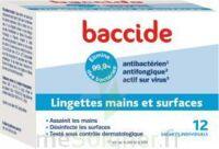 Baccide Lingette Désinfectante Mains & Surface 12 Pochettes à JACOU