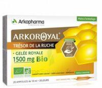 Arkoroyal Gelée royale bio 1500 mg Solution buvable 20 Ampoules/10ml à JACOU
