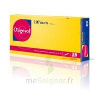 Oligosol Lithium Solution buvable en ampoule ou en récipient unidose 28Amp/2ml à JACOU