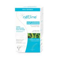 Netline Crème Visage/corps Décolorante Peau Sensible 30+30ml à JACOU