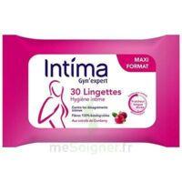 Intima Gyn'expert Lingettes Cranberry Paquet/30 à JACOU