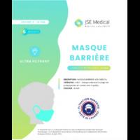 Masque barrière non médical Enfant (4/10 ans) Blancs B/6 à JACOU