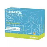 FLUIMUCIL EXPECTORANT ACETYLCYSTEINE 600 mg Glé s buv adultes 10Sach à JACOU