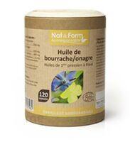 Nat&Form Eco Responsable Huile de Bourrache+Onagre Bio+Vitamine E Caps B/120 à JACOU