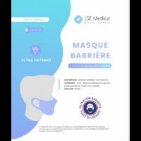 Masque barrière non médical Adulte Blancs B/6 à JACOU