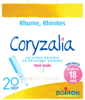 Boiron Coryzalia Solution buvable unidose B/20 à JACOU