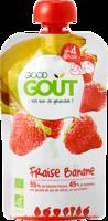 Good Goût Alimentation infantile fraise banane 4 Gourdes/90g à JACOU